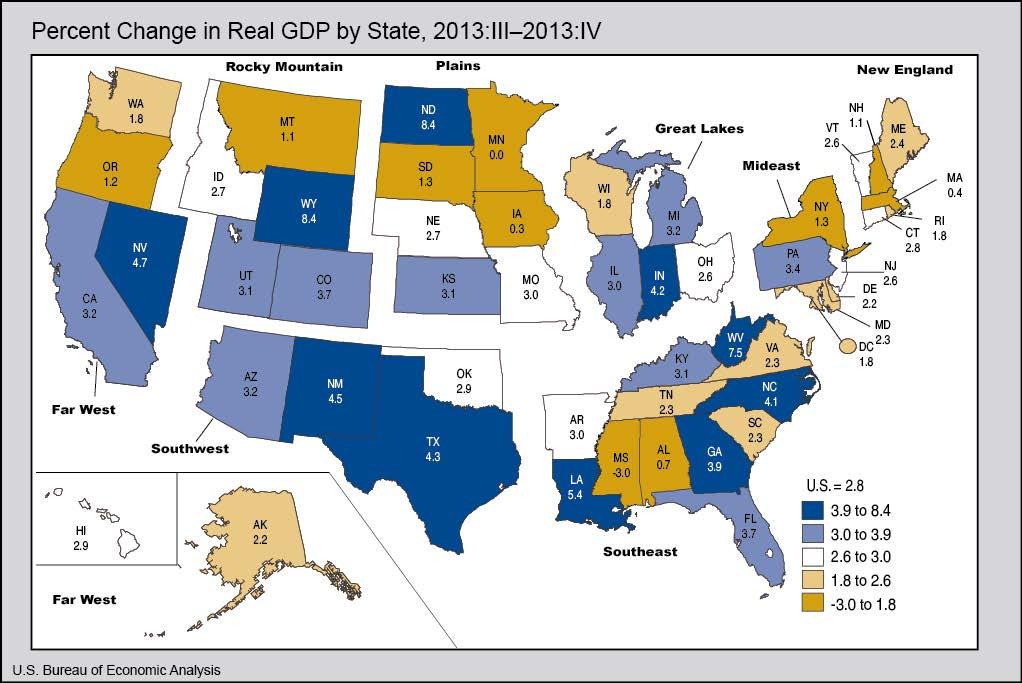 Gdp by state u s bureau of economic analysis - Bureau of economic statistics ...