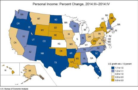 Personal Income Percent change march 25