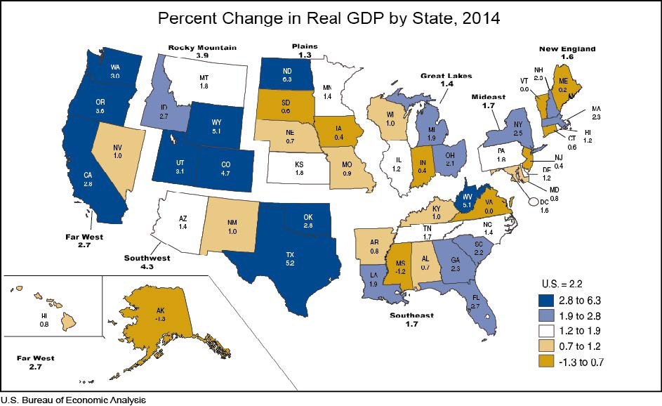 Broad Growth Across States in 2014 | U.S. Bureau of ...