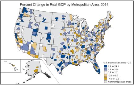Metro GDP map