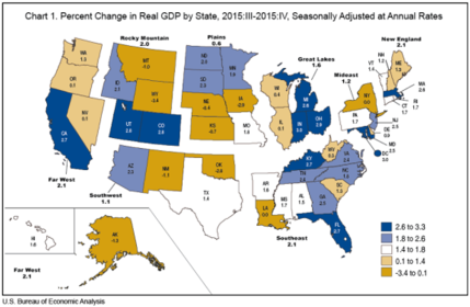 GDP By State US Bureau Of Economic Analysis - Us gdp map by state
