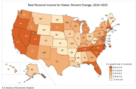 Real Personal Income for States June 2217